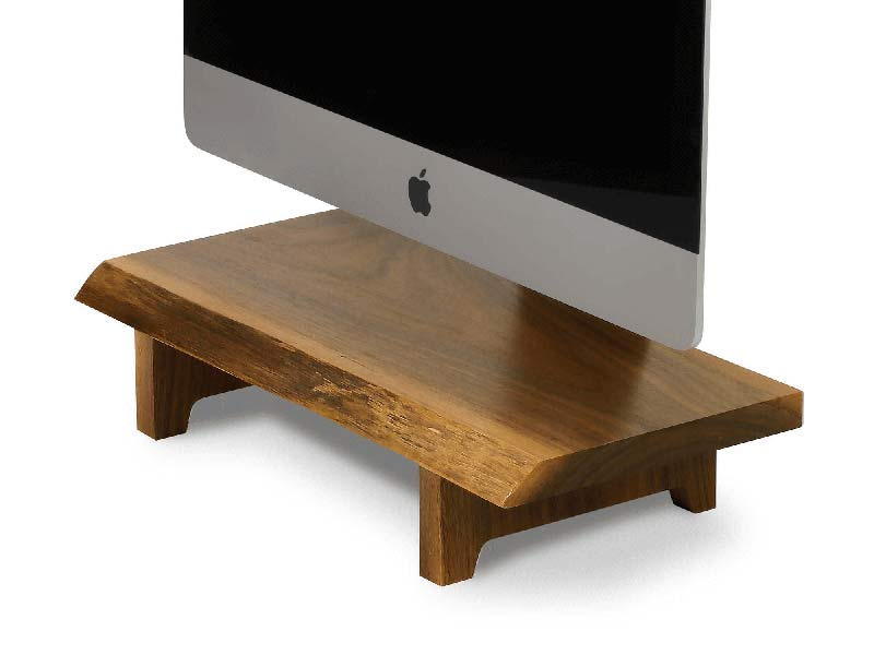 - understands 2 - Understands are one-of-a-kind wood stands for iMacs – The Gadgeteer