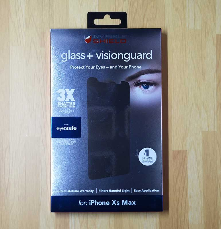 new concept 052bc 05631 ZAGG InvisibleShield Glass+ VisionGuard iPhone Xs Max screen ...