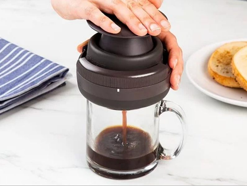 The Palmpress puts hand-brewed coffee in the palm of your hand