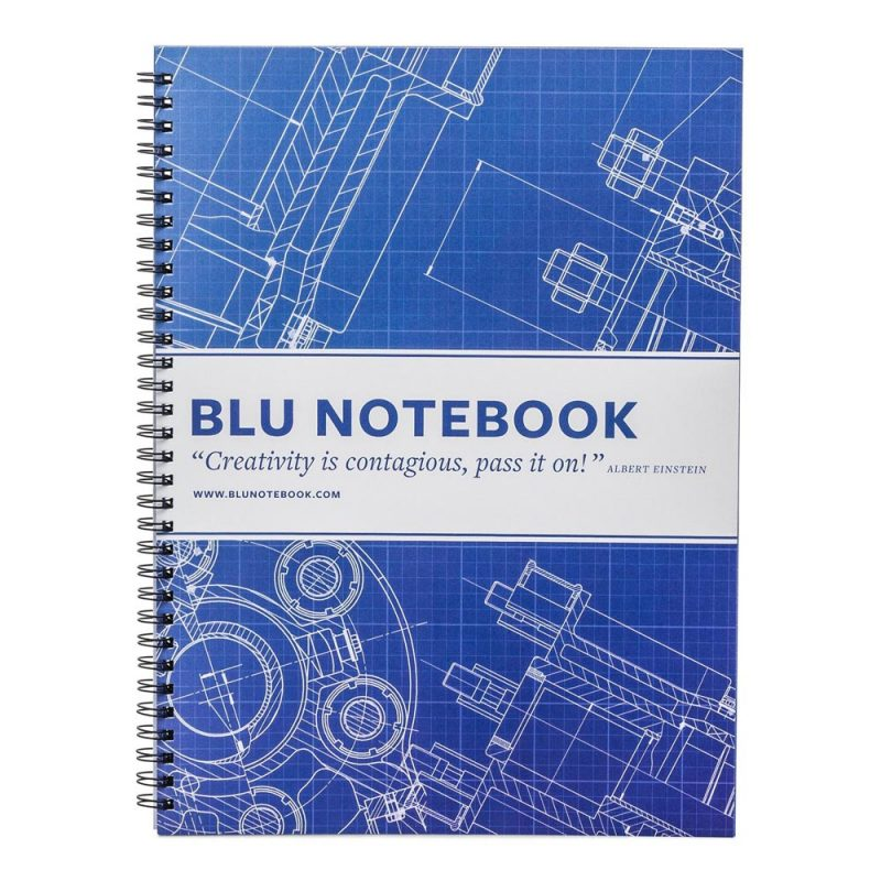 Take well-constructed notes in this blueprint-paper notebook