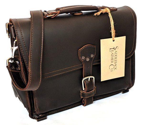 Saddleback Leather Slim Laptop Briefcase