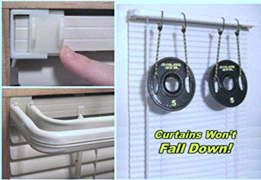 Hang Curtain Rods Without Needing Any Tools The Gadgeteer