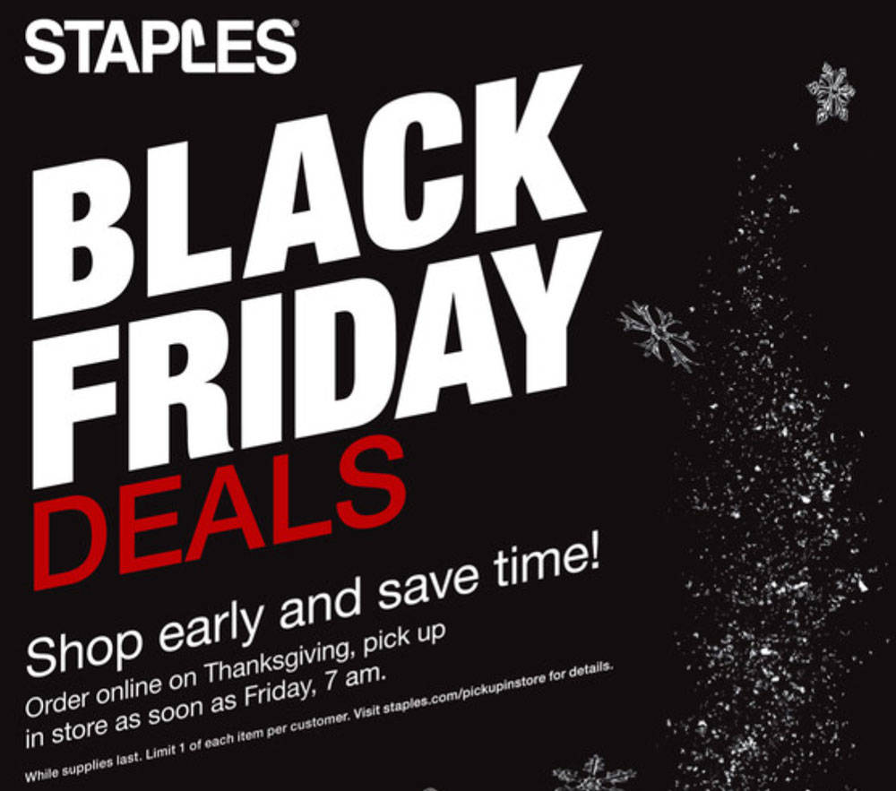 Black Friday Deals – Staples and Office Depot – The Gadgeteer