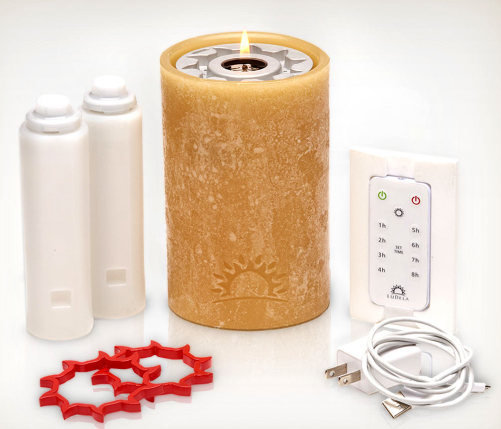 LuDela Candles Perfect Pillar Starter Set remote controlled