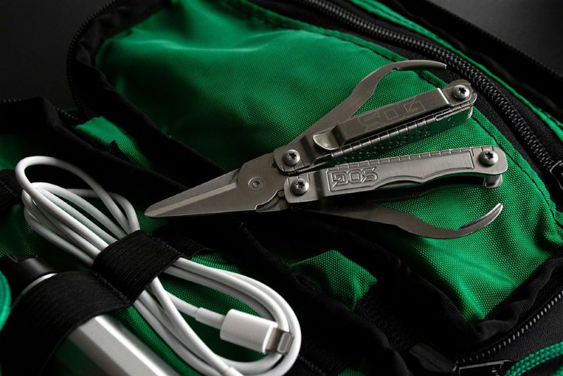 Scissors are the main focus of SOG's Snippet multi-tool