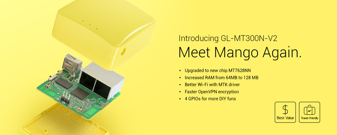 GL iNet GL-MT300N-V2 (Mango) mini travel router review – The
