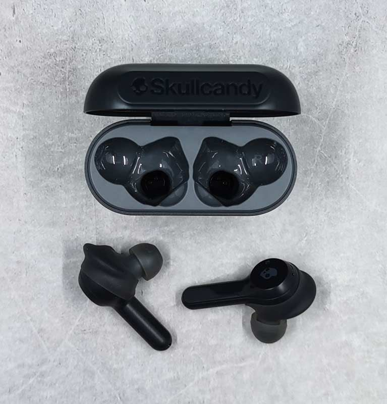 40095e303fa The Skullcandy Indy TWS earbuds look somewhat similar to Apple Airpods  since they have the dangling plastic piece.