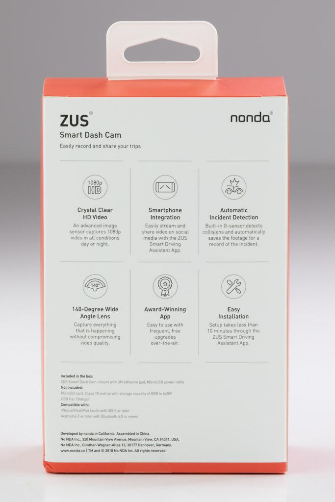 Nonda ZUS Smart Dash Cam review – The Gadgeteer