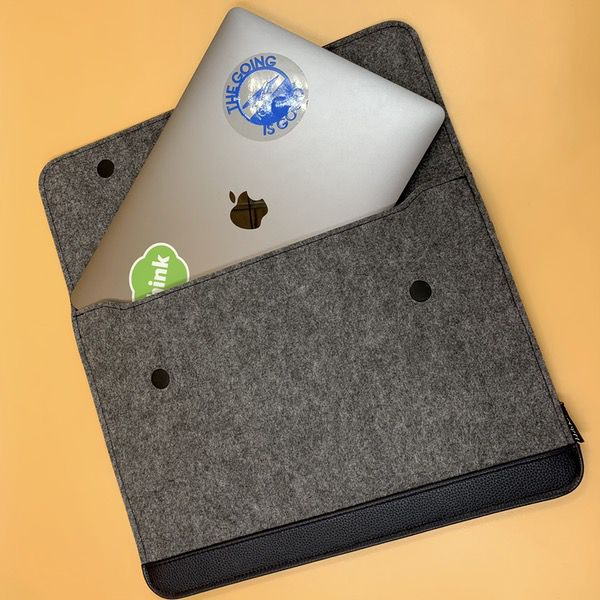 1622fc1b46df HOMIEE 13-13.3 Inch PU Leather Felt Laptop Sleeve review – The Gadgeteer