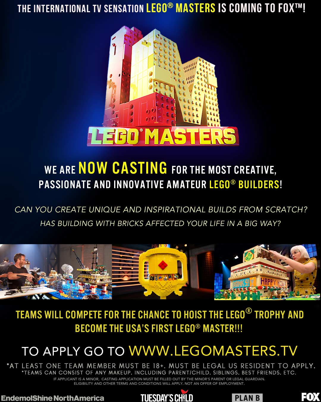 LEGO comes to reality TV on Fox and you can be part of it