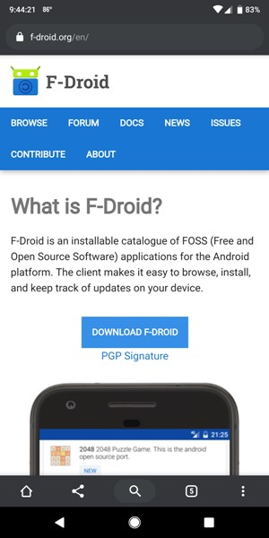 F-Droid: A security-conscious repository for Free and Open