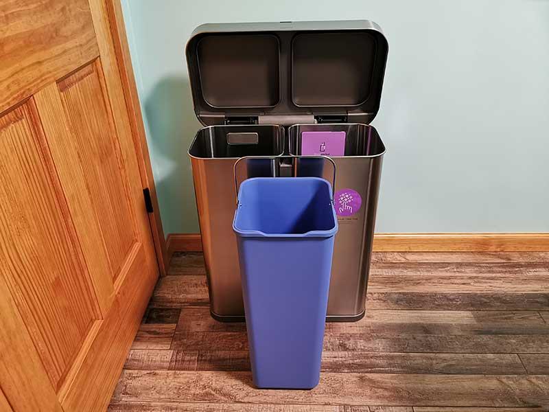 simplehuman dual trashcan 10