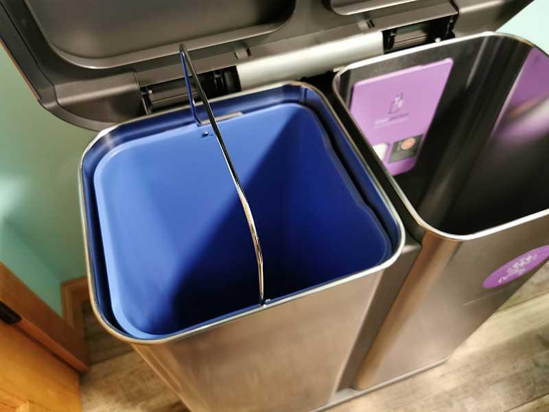 simplehuman dual trashcan 11