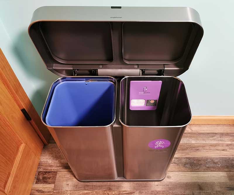 simplehuman dual trashcan 12