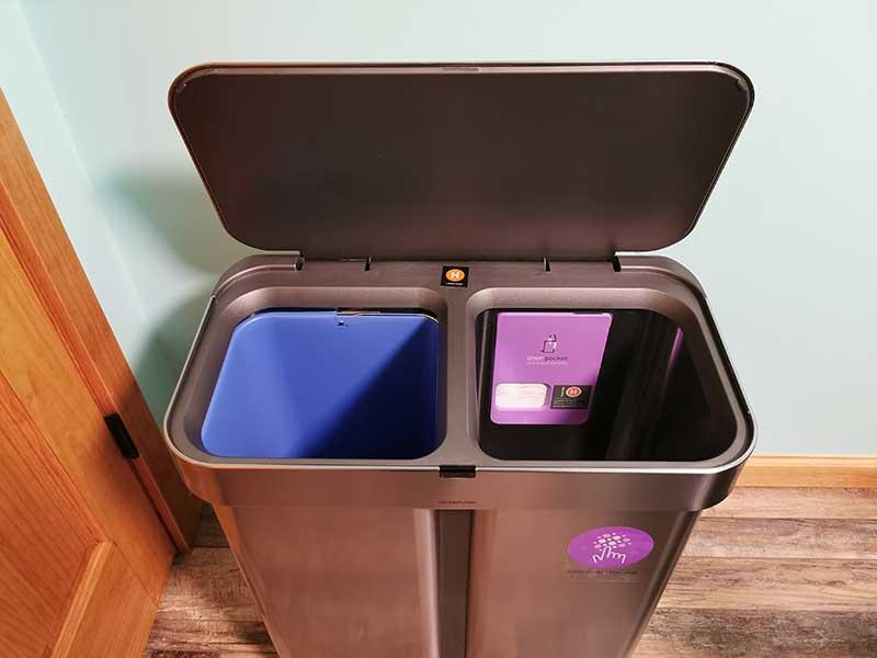 simplehuman dual trashcan 13