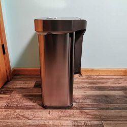 simplehuman dual trashcan 3