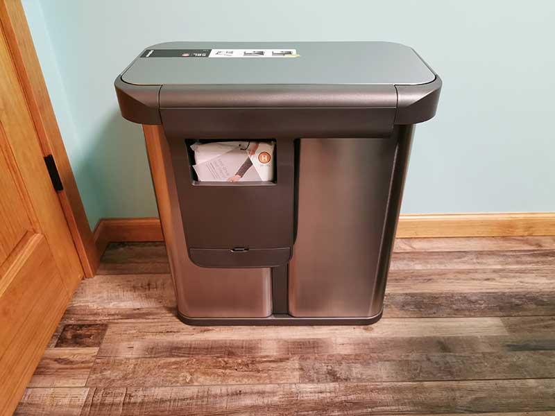 simplehuman dual trashcan 5