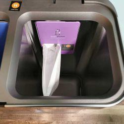 simplehuman dual trashcan 8