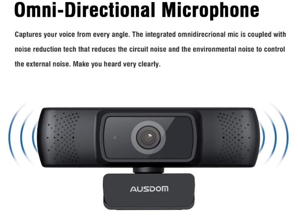 Ausdom 1080P Webcam 9