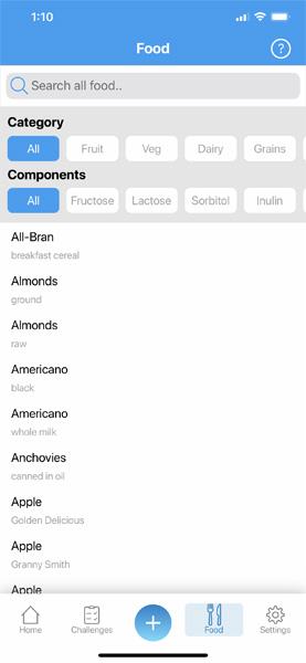 FoodMarble Tracker App Foods