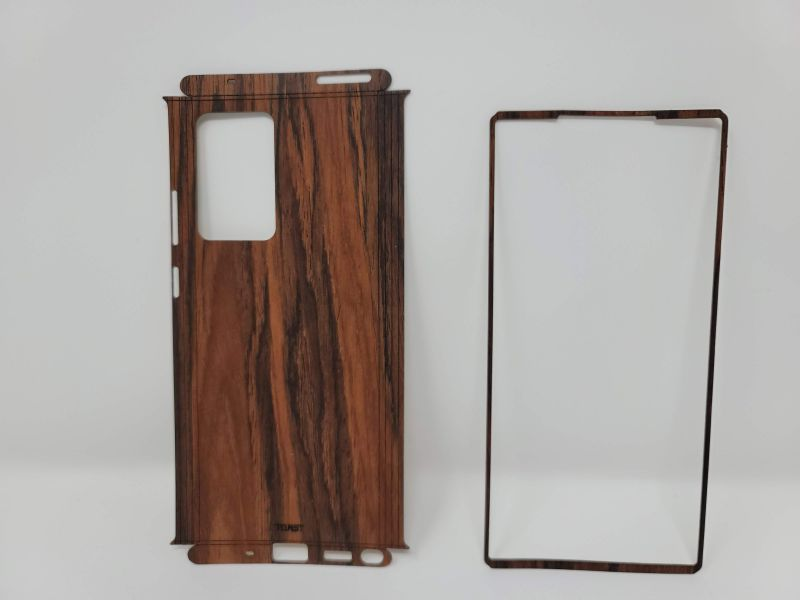 Toast Wood Phone Wrap - Front
