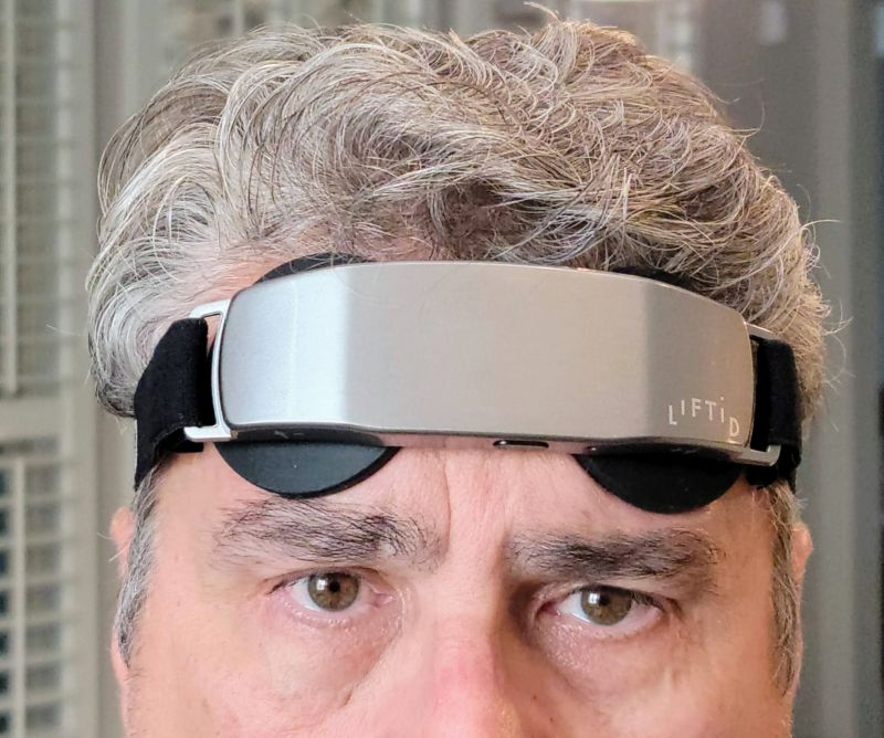 Wearing the LIFTiD headset