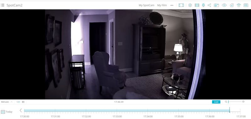 spotcam website screenshot