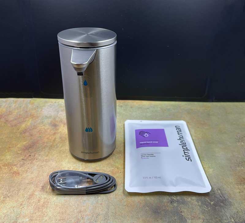 Simplehuman rechargeable liquid soap dispenser